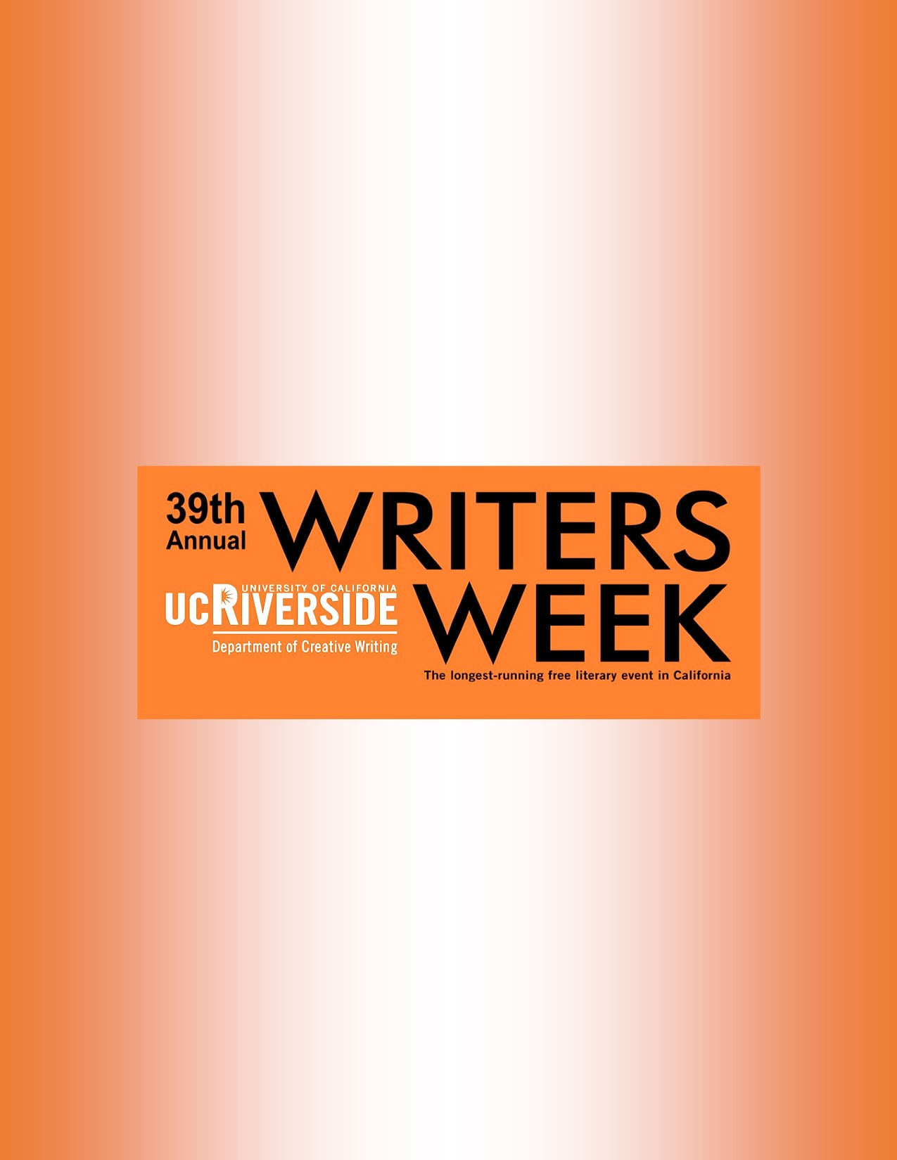 The 39th Annual Writers Week